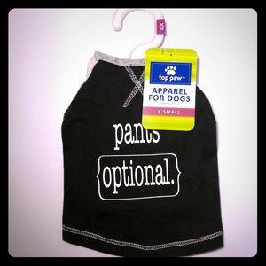 Top Paw Apparel Pants Optional Pet Dog Tee Shirt